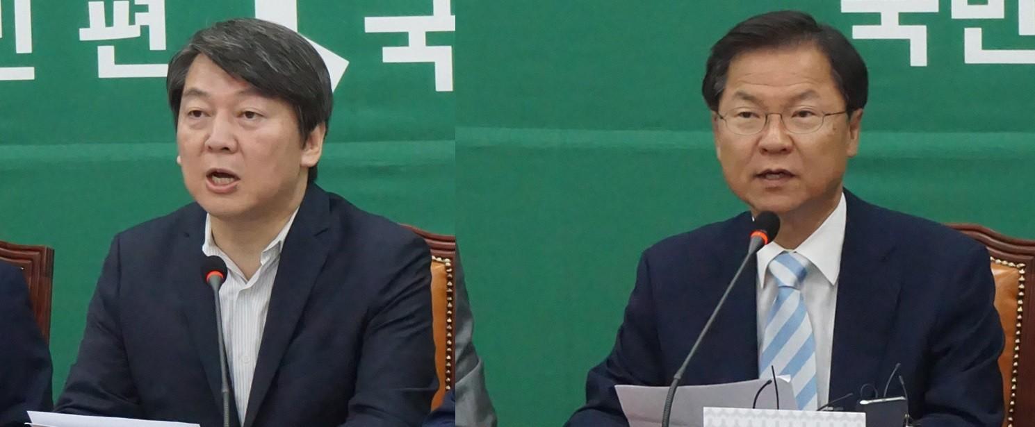 안철수·천정배 대표직 동반사퇴